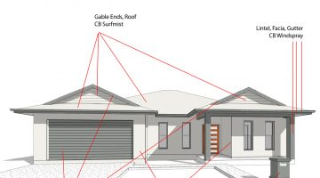 Choosing exterior colours for new homes